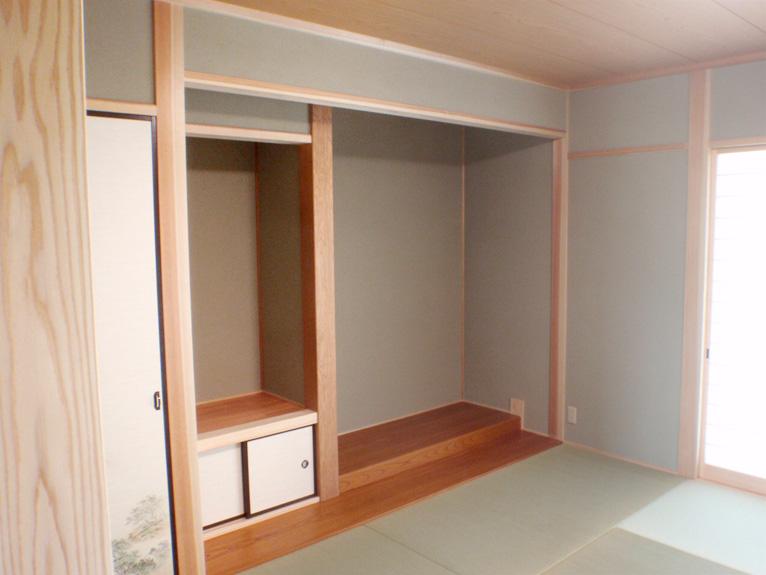 自然素材の家-和室